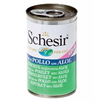 Schesir Lattina 140gr Kitten Filetti di Pollo con Aloe in gelatina