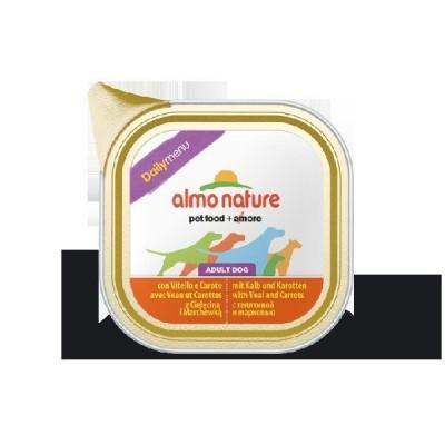 Almo Nature Daily Menu Dogs 32x100 gr con Vitello e Carote
