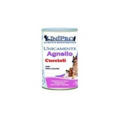 Unipro Monoproteico Cucciolo all'agnello da 400gr (ct. 24x400gr)