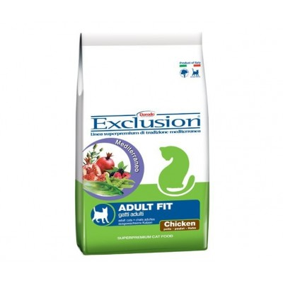 Exclusion Mediterraneo Cat Adult Fit with Chicken-Dry 10kg