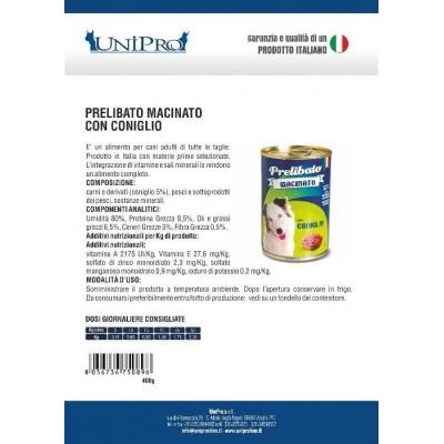Unipro prelibato macinato Coniglio (12x400gr)