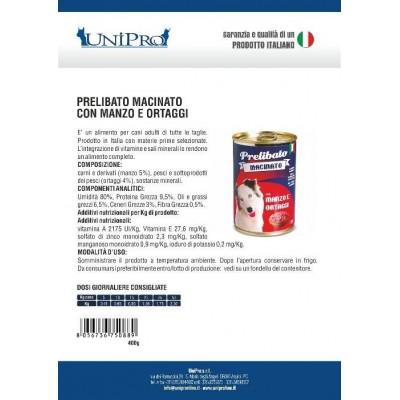 Unipro prelibato macinato Manzo e Ortaggi (12X400gr)