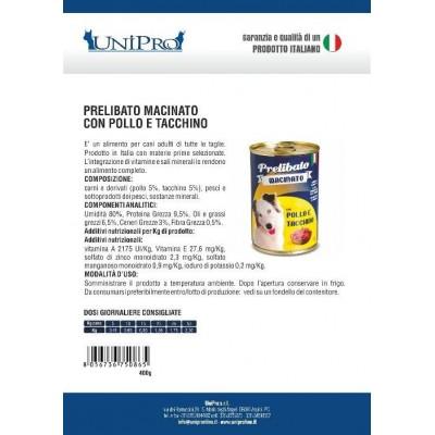 Unipro prelibato macinato Pollo e Tacchino (12X400gr)