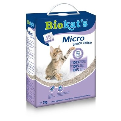 Sabbia Biokat's Micro Bianco 7Kg  (max ordinabile 1pz alla volta)