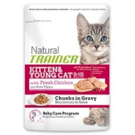 Trainer Natural bocconcini in salsa KITTEN&YOUNG CAT con Pollo Fresco
