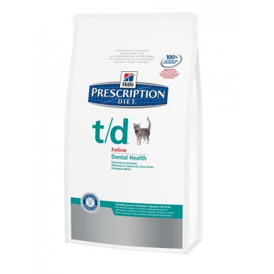 Hill's Prescription Diet Feline t/d disturbi del cavo orale alitosi original 1,5Kg