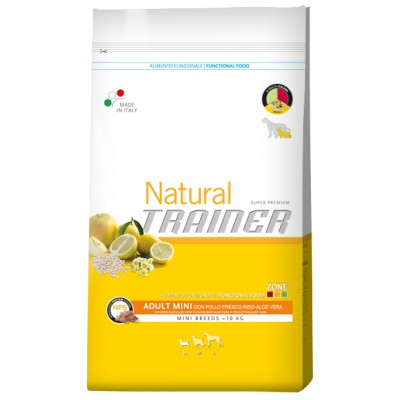 Trainer Natural Adult Mini Pollo fresco,Riso e Aloe Vera da 7,5kg