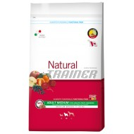 Trainer Natural Adult Medium Manzo, Riso e Ginseng da 12,5kg