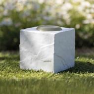 Lapidi commemorativa dado con cuore - colore bianco