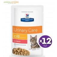 Hill's Prescription Diet c d Multicare apparato urinario bocconcini in salsa con Salmone 12 bustine da 85gr
