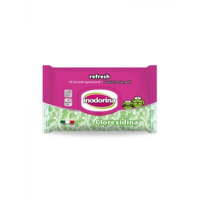Salviettine detergenti con Clorexidina Inodorina da 40pz