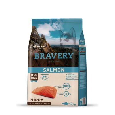 BRAVERY MEDIUM MAXI Puppy Salmone da 12kg
