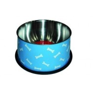 Ciotola in acciaio colorato antirov. diam 14,5cm-800 ml